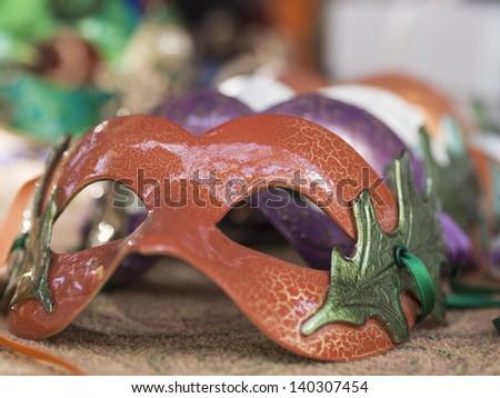 masks at the fair - stock photo