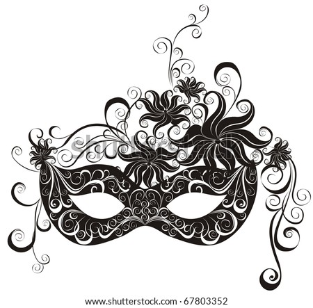 Masks for a masquerade. Party mask. - stock photo
