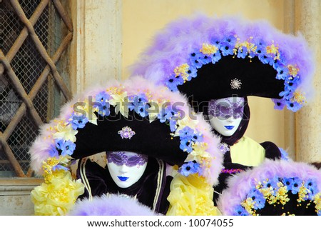 Masks in venice - stock photo