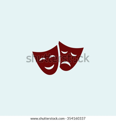 masks Red flat icon. Simple illustration pictogram