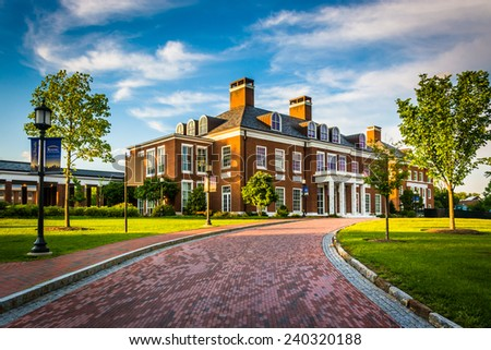 Mason Hall, at John Hopkins University in Baltimore, Maryland. - stock photo