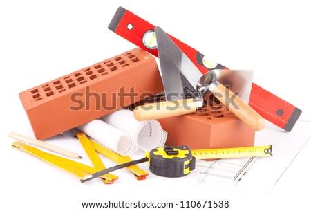 mason tools - stock photo