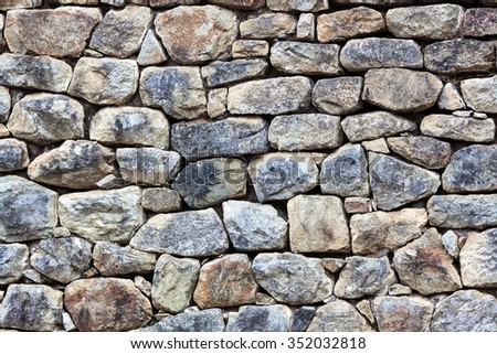 masonry of the incas Machu Picchu on as background - stock photo