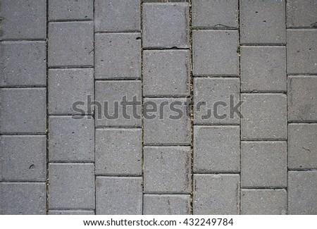 Masonry paving paths - stock photo