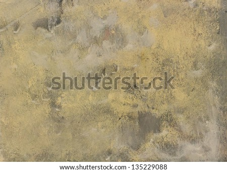 Masonry walls are painted with yellow background - stock photo