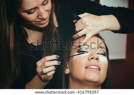 Masquara, make-up, beauty salon, make-up artist, toned image