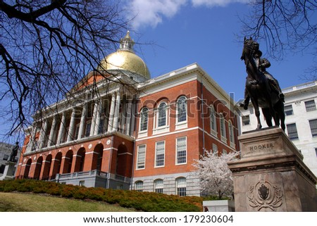 Massachusetts State House  - stock photo
