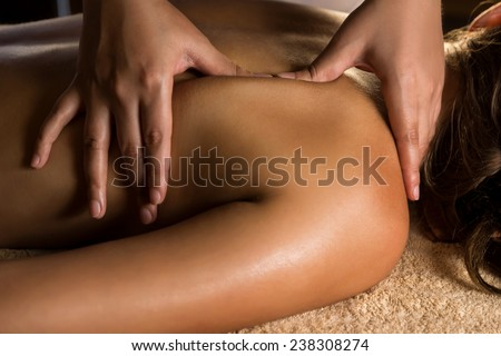 Massage closeup - stock photo