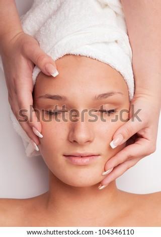 massage concept - stock photo
