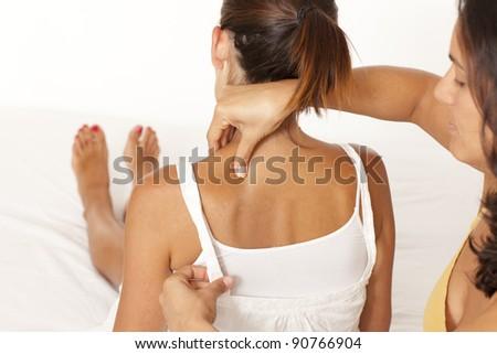 Massage of back - stock photo