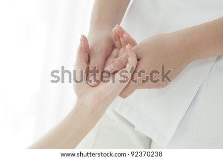 Massage of the hand