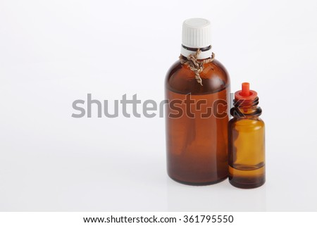 massage oil in brown bottle