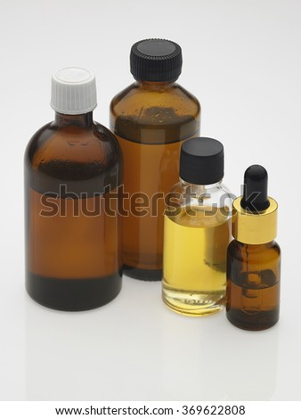 massage oil on the white background