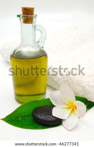 massage oil spa still life - stock photo