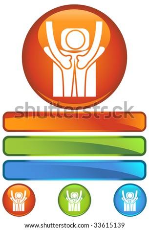 massage orange round - stock photo