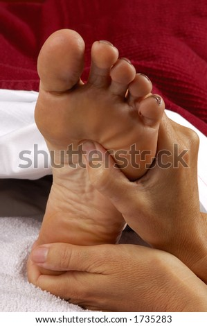 Massage Reflexology at Day Spa - stock photo