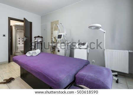 Massage Room Interior Design Wellness Spa Stock Photo Royalty Free