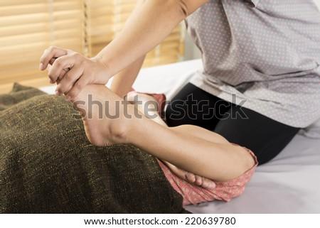 massage series  - stock photo