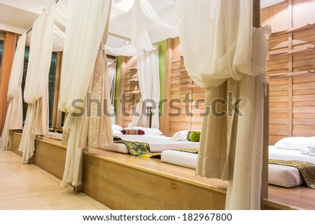 Massage therapy room - stock photo