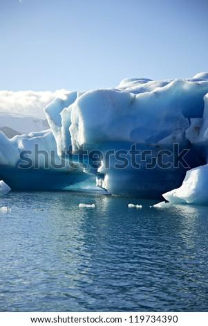 Massive iceberg Jokulsarlon lagoon Iceland - stock photo