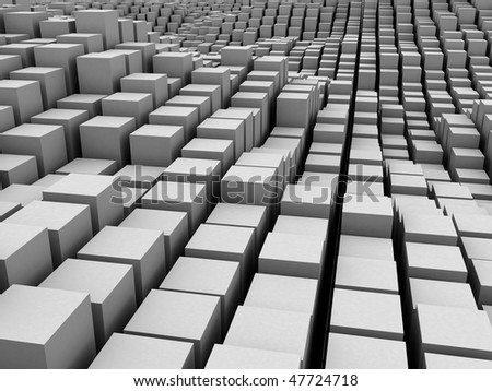 Massive  of boxes squares, bars background