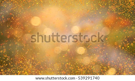massive splash of glowing golden and yellow round shape tiny confetti particles