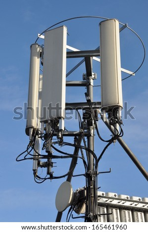 Mast and antennas cellular systems   - stock photo