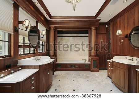 Master bath in contemporary home