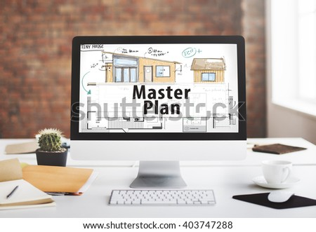 Master Plan Management Mission Performance Concept - stock photo