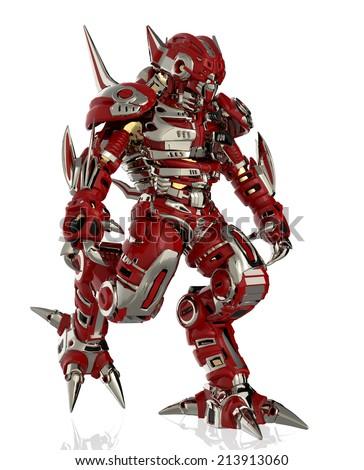 master robot walking - stock photo