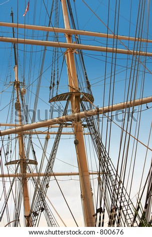 Masts of old ship