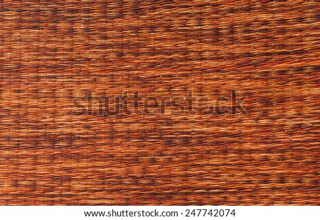 mat handcraft rattan weave texture for background. - stock photo