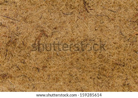 Mat made of coconut fiber for background. - stock photo