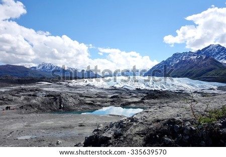 MATANUSKA, AK -24 MAY 2015- The Matanuska Glacier State Recreational Site in Alaska near the Glenn Highway. The Matanuska Glacier is the largest glacier accessible by car in the United States.