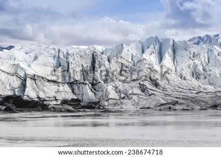 Matanuska Glacier in Alaska (USA) - stock photo