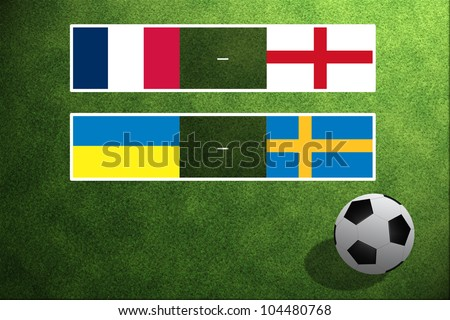Match Day EURO, Group D - stock photo