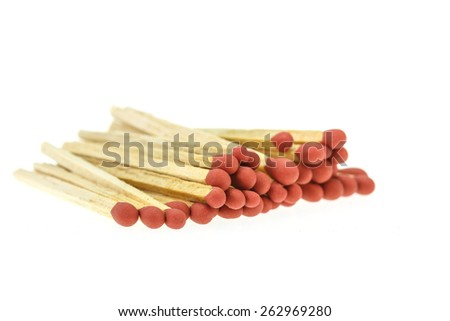 Match isolated on the white background - stock photo