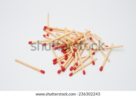 Match on white background
