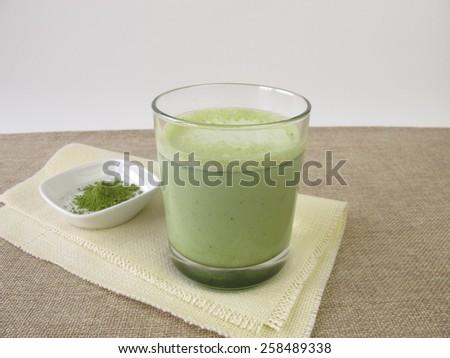 Matcha Latte - stock photo