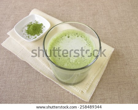Matcha Latte - stock photo