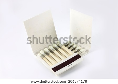 Matchbook on a white background - stock photo