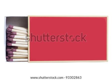 Matchbox isolated on white. - stock photo