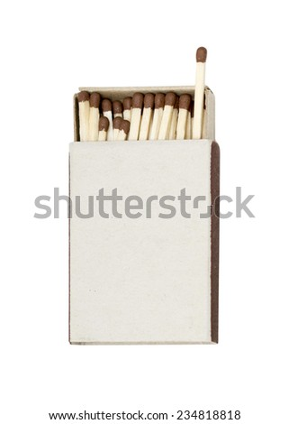 matchbox on a white background - stock photo