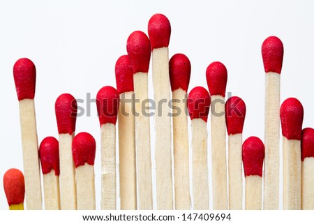 matches in a row  - stock photo