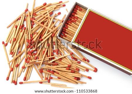 Matches on white - stock photo