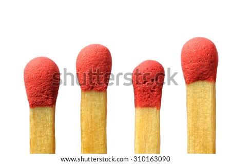 Matches, wood, macro - stock photo