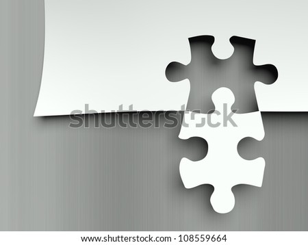 Matching puzzle pieces, concept of complement - stock photo