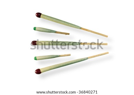 Matchsticks. Isolated on white background.