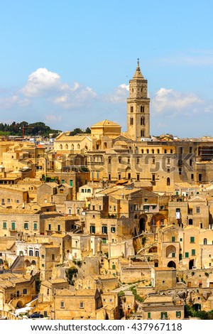 Matera, Puglia, Italy. The Sassi and the Park of the Rupestrian Churches of Matera. UNESCO World Heritage