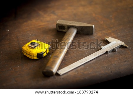Material assembly - stock photo